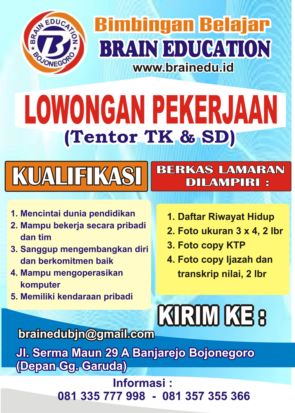 Bimbel Brain Education Bojonegoro
